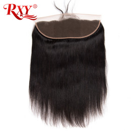 SwiSS lace human hair cloSureS online shopping - RXY x4 Lace Frontal Closure Straight Human Hair Brazilian Hair Weave Lace Frontal Inch Swiss Lace Frontal Closure With Baby Hair