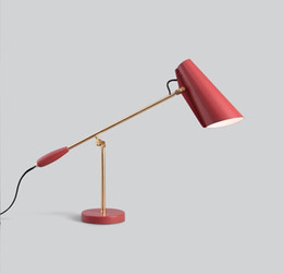 metal bedside tables Australia - Modern Creative Metal Red Table Lamp Study Art Home Living Room Bedside Bedroom Decor Desk Light TA249