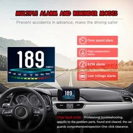 up display NZ - Head Up Display P12 TFT LCD multi color smart display OBD Hud GPSDigital Car Speed Projector Trip Computer OBD2 Speedometer