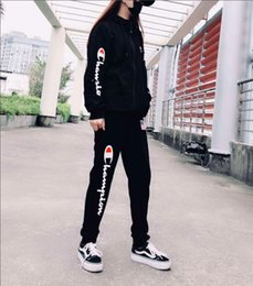 $enCountryForm.capitalKeyWord Australia - 2019 New brand CHAMPION sportswear fashion men's sportswear two-piece hoodie + tether casual pants sports suit male