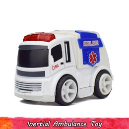 Wholesale Hospital Rescue Ambulance Inertial Car Model Toys For Children Diecast Mini Alloy Plastic Pull Back Vehicles Boy Kids Gift Toys