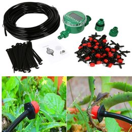 garden drip irrigation kits UK - 15m Garden DIY Automatic Watering Micro Drip Irrigation System Garden Self Watering Kits with Adjustable Dripper BH08