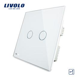 $enCountryForm.capitalKeyWord Australia - Livolo Crystal Glass Panel, Wall Switch, AC 220-250V ,2 Gangs 2 Ways, Touch Screen Home Light UK Switch