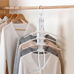 Plastic Foldable Clothes Hangers Australia - 360 Degree Rotation Drying Racks Multifunctional Wardrobe Magic Hanger Household Multi-layer Foldable Clothes Storage Hangers BH1029 TQQ