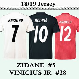 3ed13414676 18 19 Real Madrid ZIDANE VINICIUS JR Men Soccer Jerseys SERGIO RAMOS  MARIANO MODRIC Home Away 3rd Football Shirt BENZEMA Camisetas de fútbol