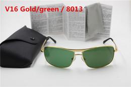 $enCountryForm.capitalKeyWord Australia - 1pcs High Quality Fashion Rectangle Sunglasses For Men Women Eyewear Sun Glasses UV Protection Black Green 64mm Glass Lenses With Box Cases