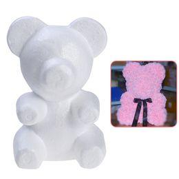 Discount styrofoam crafts - Modelling Polystyrene Styrofoam Foam bear 200mm Wedding decoration Foam bear White Craft Balls For DIY Party Decor Gifts