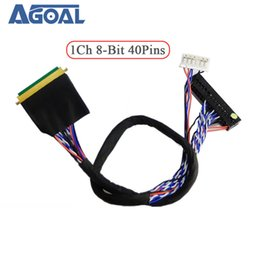 $enCountryForm.capitalKeyWord Australia - cables for laptop Universal 1 ch 8-bit 40 pins 40 pin single 8 LVDS cable for laptop notebook LED panel matrix screen