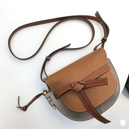 $enCountryForm.capitalKeyWord Australia - Elegant2019 Leather Genuine Hit Color Bow Saddle Package Cowhide Woman Bag