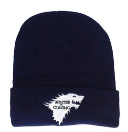 wholesales game thrones Australia - Winter is comming hats game of thrones is the same kind of knitted hats for men and women