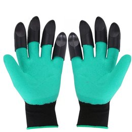 Easy Garden Tools Australia - Two Pairs Garden Genie Gloves with Claws Clawed Easy Gardening Gloves for Digging and Planting Right Handed Tools