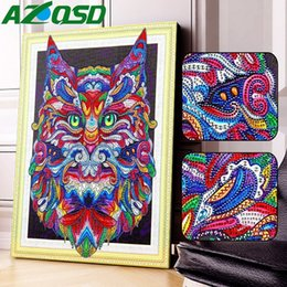 $enCountryForm.capitalKeyWord Australia - wholesale 5D DIY Special Shaped Diamond Painting Animals Diamond Embroidery Sale Picture Of Rhinestones Decor Home 40x50cm