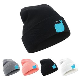 $enCountryForm.capitalKeyWord UK - 2019 New Winter Unisex Slouchy Knitted Hat Cute Whale Embroidery Beanies Cotton Blends Soft Hats For Men and Women's