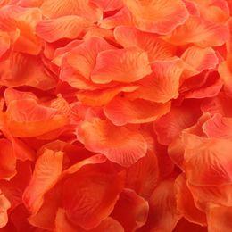 Silk White Rose Petals Wholesale Australia - 1000 Pcs Artificial Petals Atificial Flowers Silk Rose Petals Romantic Wedding Decor Party Favors Decoration #L3