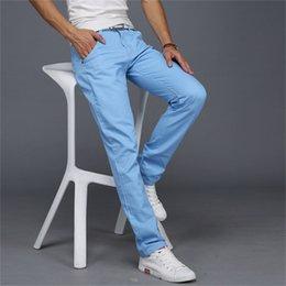 $enCountryForm.capitalKeyWord Australia - 2019 New Thin Pants Men Business Casual Pants Plus Size Cotton Slim Straight Summer Fashion Solid Color Trousers Men MX190717