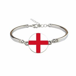 $enCountryForm.capitalKeyWord Australia - Fashion England National Flag World Cup Football Fan Time Gem Glass Cabochon Bracelets Link Chain Female Male Jewelry Hot Gift for Women Men