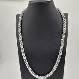 Production Chains NZ - USENSET Professional production of stainless steel chain 8 mm twisted wheat chain necklace fashion necklace factory price
