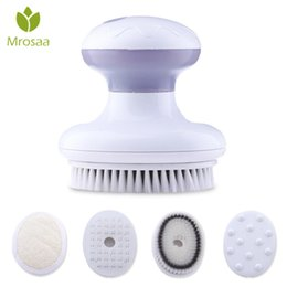 $enCountryForm.capitalKeyWord Australia - New!! 4 In 1 Electric Bath Brush Vibration Face Body Cleaning Massager Tools Waterproof Spa Cleansing Massage Shower Brush Y19062704