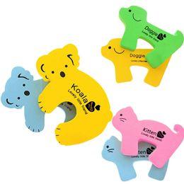 Door Holder Stops UK - Child Kids Baby Animal Cartoon Jammers Stop Door Stopper Holder Lock Safety Guard Finger Protect Wholesale