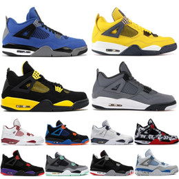 cool basketball shoes Canada - Designer New Bred 4 4s Men Basketball shoes Loyal Blue cool grey Mushroom cactus jack fire red Pure Money Oreo mens trainers sports sneakers