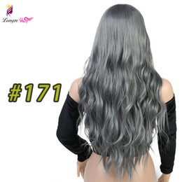 $enCountryForm.capitalKeyWord Australia - Long Wavy Wig Ombre Brown Blonde Grey High Density Heat Resistant Synthetic Hair Wig For Black White Women Cosplay Party