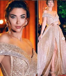 Floor length pageant dresses online shopping - Sexy Sparkly Arabic Evening Dresses Sweetheart A line Sequined Prom Dresses Elegant Formal Party Pageant Gowns Custom Size
