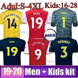 kids uniform shirts Canada - Thailand MEN + kids sets uniform 2019 2020 football kits aRSeN soccer jersey 19 20 TIERNEY Camisetas de futbol football shirt soccer top