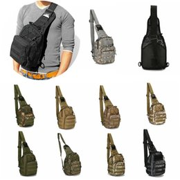 men denim style bag UK - Tactical Chest Bags Military Canvas Messenger Crossbody Shoulder Backpack Camouflage Outdoor Sport Molle Sling Cycling Bag Satchel Day Packs