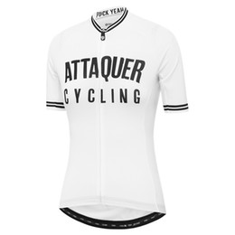 cycling jersey flags Canada - Attaquer Womens All Day Club cycling jersey women Female flag short sleeve cycle shirt Blue green white black purple riding wear