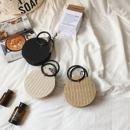 $enCountryForm.capitalKeyWord NZ - Caker Brand 2019 Women Circle Straw Bags Fashion Ring Handbags Chain Shoulder Bags Summer Beach