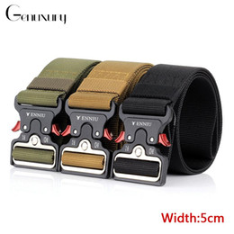 duty free belts 2020 - Genuxury Tactical Belts Army SWAT Heavy Duty Combat Tractical Belt for Waistband Outdoor Hunting Strap Nylon Belt cheap