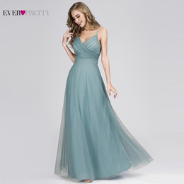$enCountryForm.capitalKeyWord Australia - Elegant Prom Dresses Long Pretty A-Line V-Neck Chiffon Cheap Women Formal Bride Evening Gowns for Wedding Party T190606