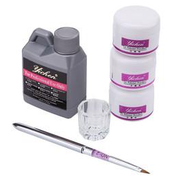 poudre de cristal Nail art acrylique liquide acrylique en poudre polymère Builder manucure Outils Set Kit vente directe d'usine en Solde