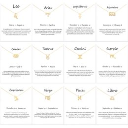 Necklaces Pendants Australia - Hot Sale Dogeared Necklaces 12 Constellation Pendant Necklace Golden Silver Zodiac Sign Necklace Birthday Gifts for Women girls