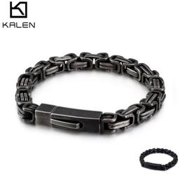 Men 7mm Silver Chains UK - Retro Royal Chain Bracelets For Men Stainless Steel Grey Black 7mm Width Fashion Cool Vintage Men