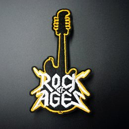 $enCountryForm.capitalKeyWord Australia - Guitar Size:6.0x11.0cm Embroidered Patch for Clothing Iron on Sew Applique Cute Fabric Clothes Shoes Bags Decoration Patches
