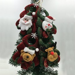 Wholesale Cute PC Tree Ornaments Christmas Tree Hanging Decoration Parachute Snowman Santa Claus Pendant Xmas Drop Ornaments