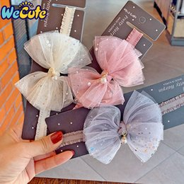 baby sequin bow NZ - Wecute Baby Girls Headband Crystal Lace Bow Children Kids Princess Glitter Sequin Headwear Infant Toddlers Hair Accessories