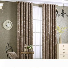 fixing blinds Canada - Chenille jacquard Silver Blackout Curtain For Bedroom Modern Blind Fabric Grey Drapes for Living Room Window Custom size