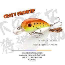 $enCountryForm.capitalKeyWord Australia - 6cm 8g Hard Crank Bait Floating Fishing Lure Hunter Bass Tackles Crankbait Crazy Cranks Wobblers Topwater Lure for Pike 6cm 8g Hard