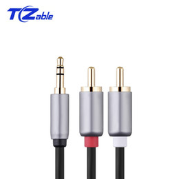 $enCountryForm.capitalKeyWord Australia - 3. 5MM To 2RCA Double Lotus One Point Two Audio Line Adapter Cable Male To Public The Phone And Amplifier Connected Audio Cable