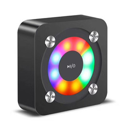 $enCountryForm.capitalKeyWord Australia - Portable Wireless Bluetooth Square Speaker Support FM LED Shinning TF Card Music Playing With Light Volume Control