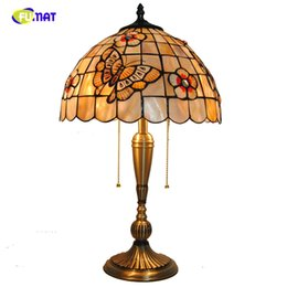 $enCountryForm.capitalKeyWord Australia - FUMAT Natural Shell Butterfly & Flowers Lampshade Table Lamps Tiffany Table Lights Home Decor BAR Living room Bedside Lights