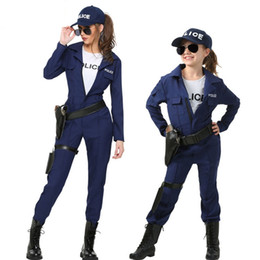 police woman halloween costumes UK - IREK Police Women Halloween Costume Girl Party Cosplay Costume Factory Direct Performance Clothing Facotry Direct