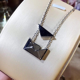 $enCountryForm.capitalKeyWord Australia - Small envelope pendant necklace clavicle necklace neck chain love letter necklace 925 sterling silver to create a stylish simple short Valen