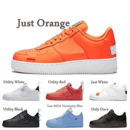 casual shoes low sneakers NZ - Dunk 1 Orange High Low MCA University Blue Utility Black White Red Volt Flax Platform Casual Shoes Skateboard Outdoor Sport Leather Sneakers