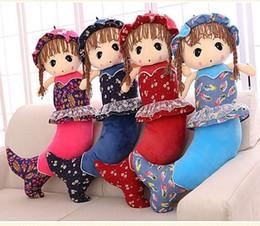 Toy Boy Movie NZ - Lovely Mermaid Pillow Boy Phyllostachys Plush Toys Cloth A Doll Birthday Gift Girl Student