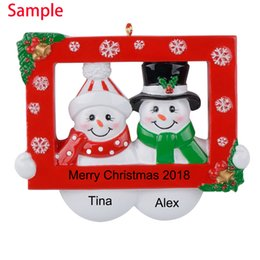 Decor Ornament Australia - Maxora Snow Couple Party Prop Resin Personalized Christmas Ornaments For Lover Gifts Home Decor,Christmas Ornament, Souvenir