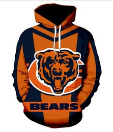 AnimAls beAr online shopping - New Fashion Women Men s Harajuku Style Chicago Bears Casual d Printed Crewneck Sweatshirts Hoodies Unisex Sportwear Coat