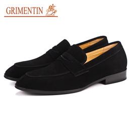 Italian Formal Shoes Australia - GRIMENTIN Summer Italian formal mens dress shoes hot sale mens loafers fashion designer genuine leather slip-on business male shoes AST